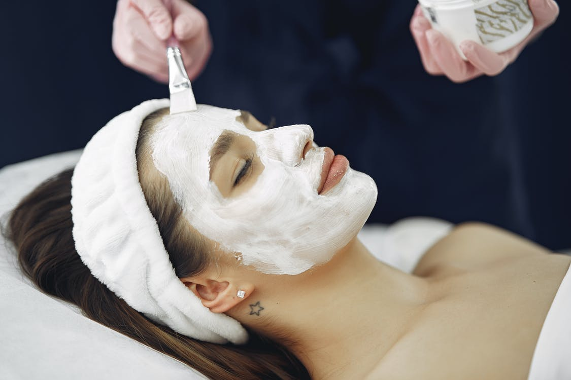 Woman With White Facial Mask mothers day gift idea