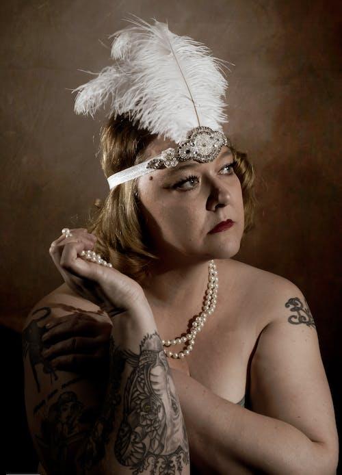 Free stock photo of 1920 s, pearls, semi nude