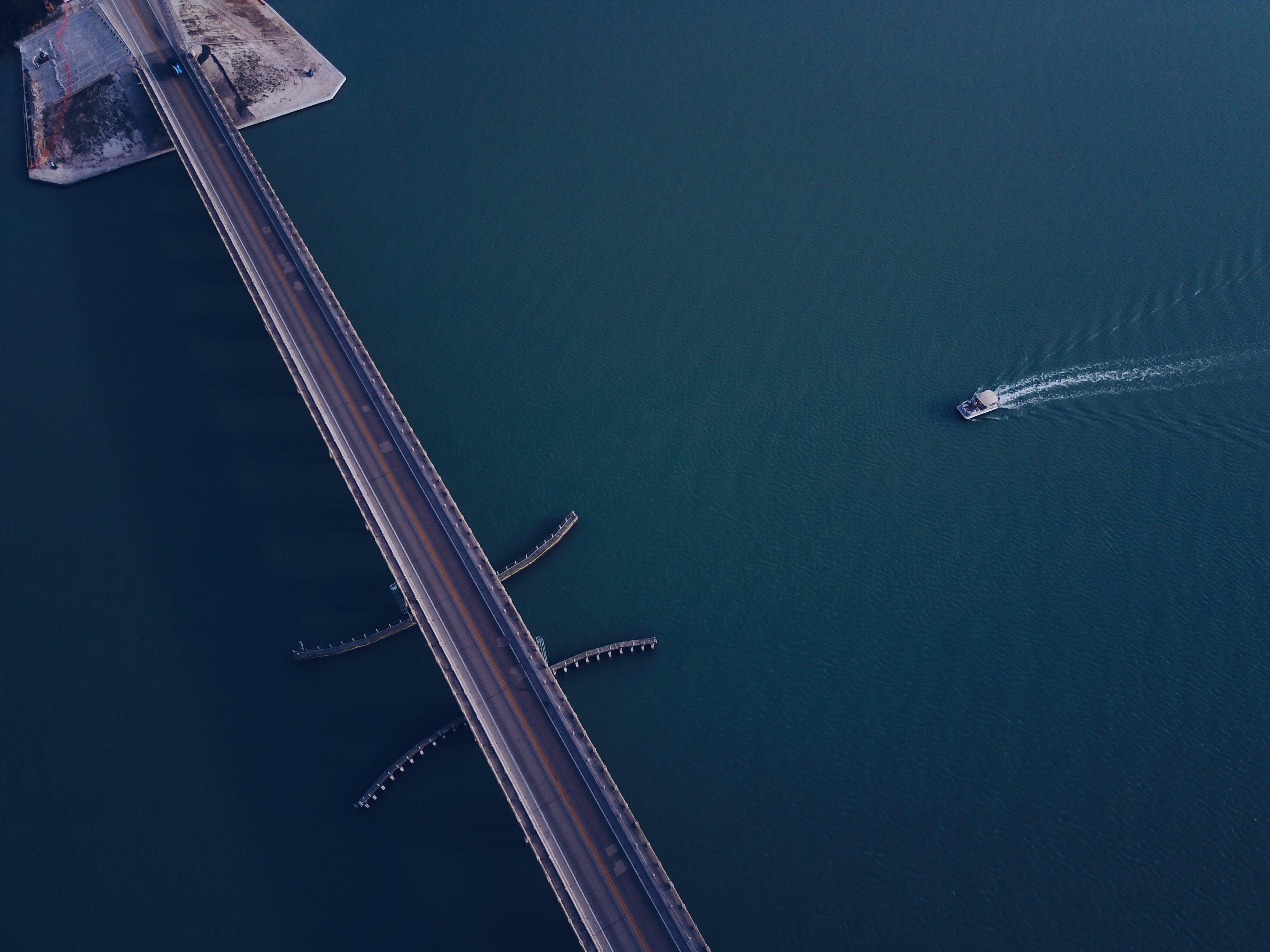Free stock photo of sea, water, bridge, waves