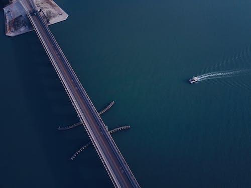 Aerial Short of Bridge over Body of Water