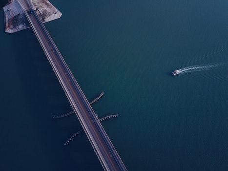Free stock photo of sea, water, bridge, waves