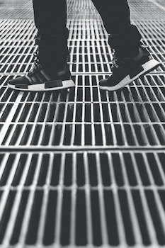 Free stock photo of steps, pattern, shoes, lines