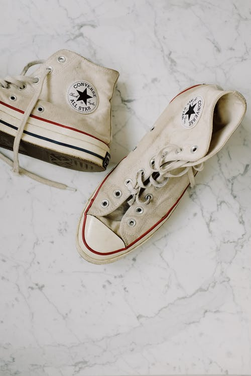 White Converse All Star High Top Sneakers