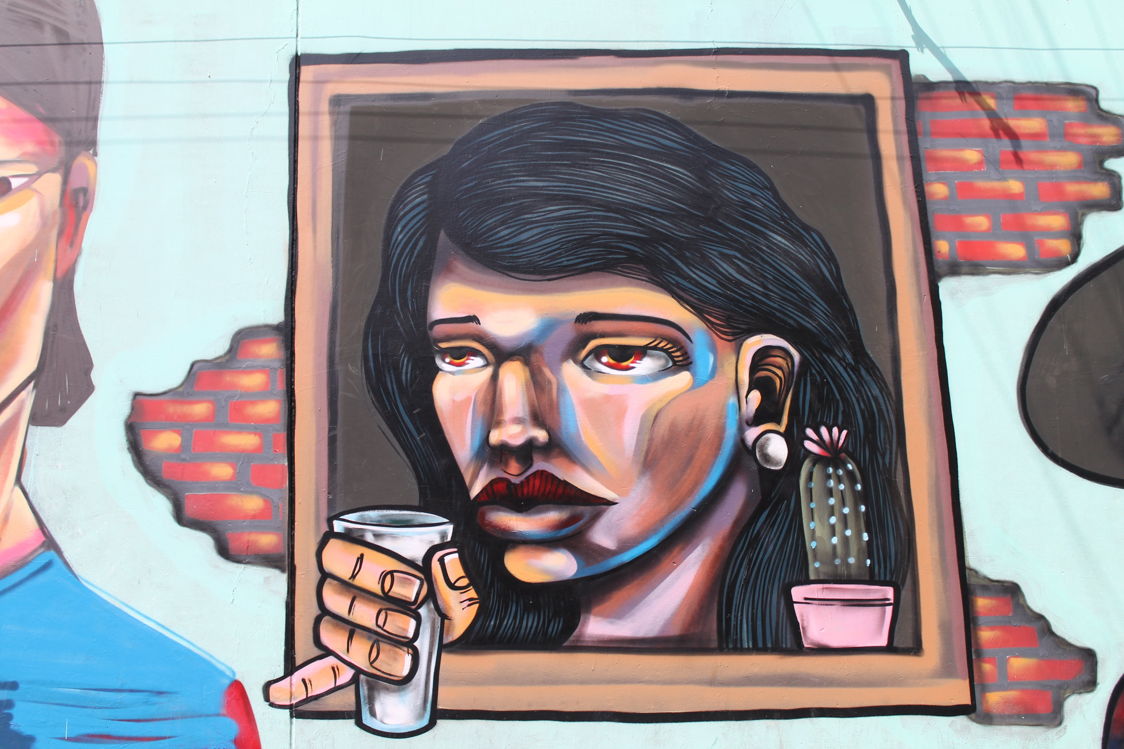 Free stock photo of girl, window, streetart, peru
