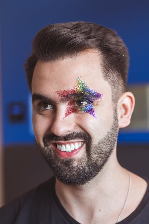 Man With Star on His Face