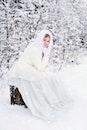 cold, snow, person