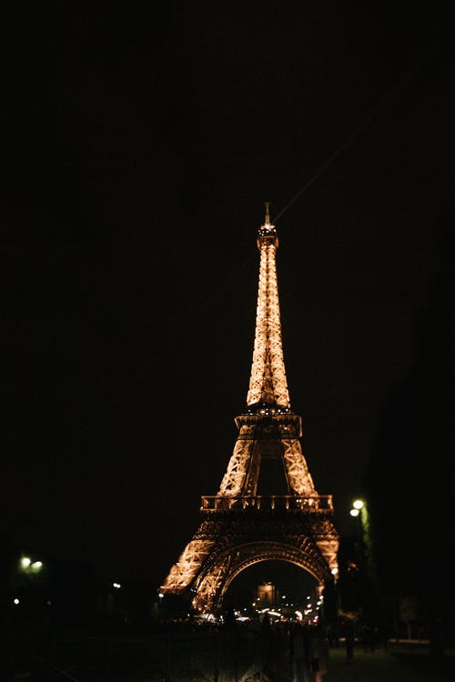Eiffel Tower during Night Time