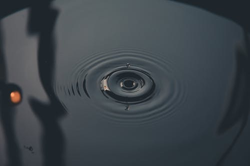 Water Drop in Grayscale Photography