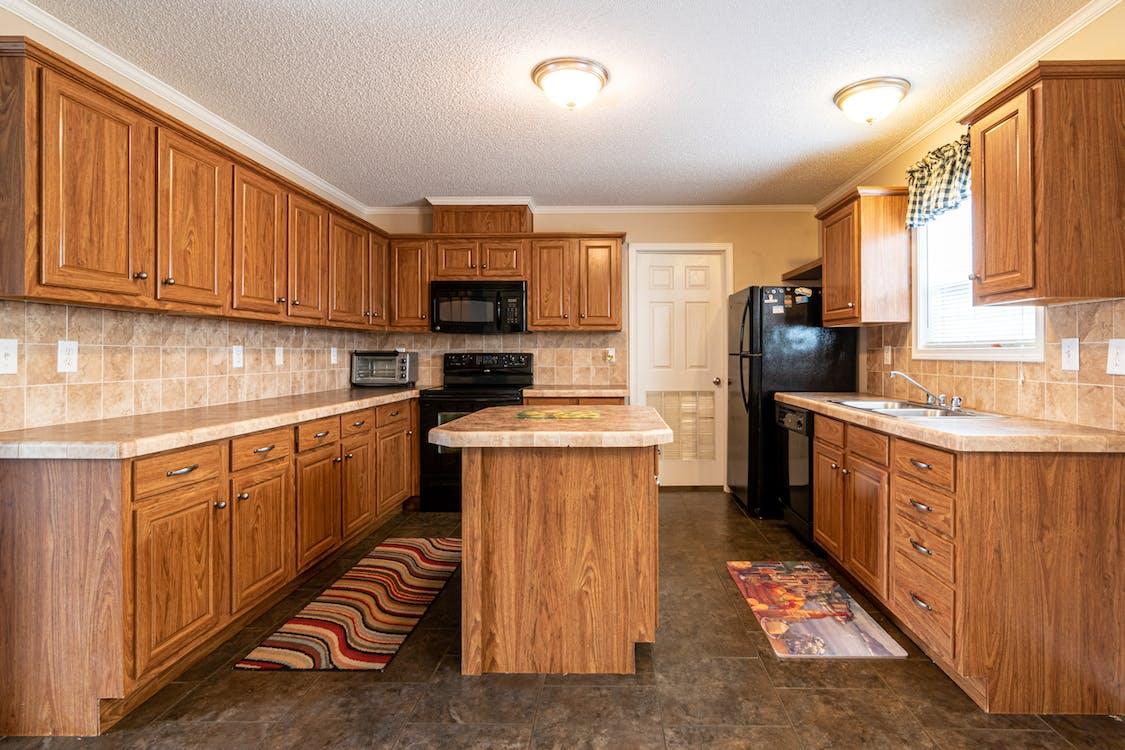 Brown Wooden Kitchen Cabinets