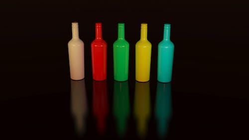 Immagine gratuita di arte, bottiglie, colorato, colori
