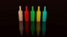 art, bottles, colorful