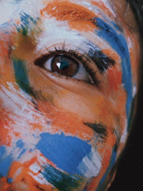 Person Colorful Face Paint