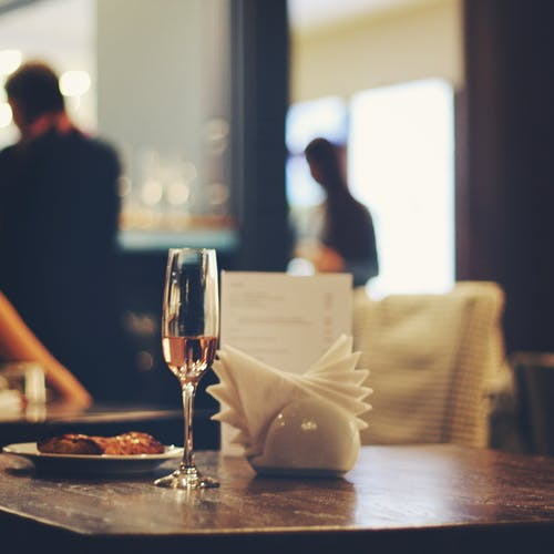 Free stock photo of atmosphere, café, champagne glass