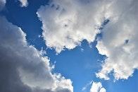 sky, clouds, blue