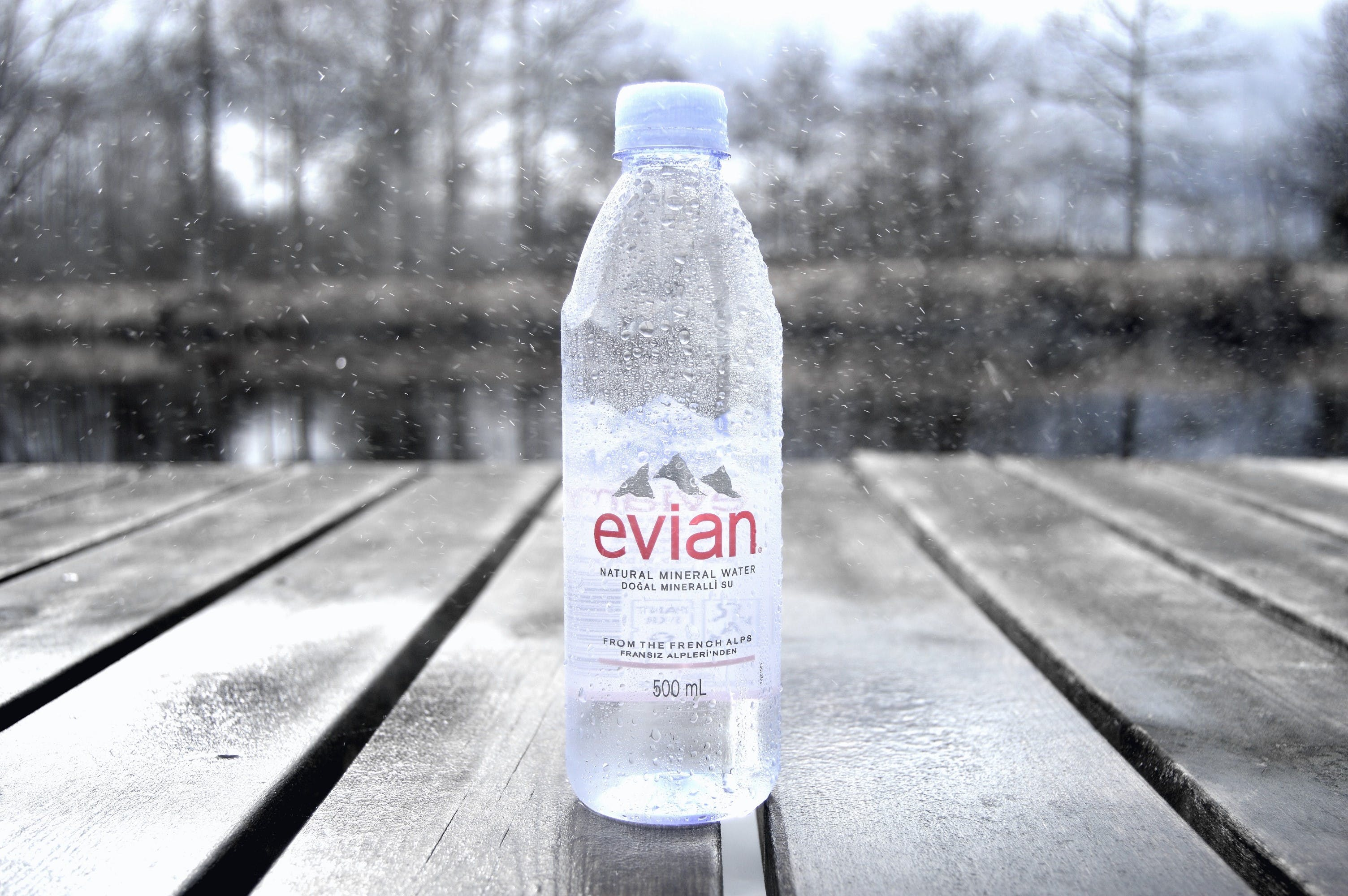 Free stock photo of bottle, bridge, evian water, focus