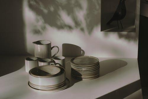 Ceramic Dinnerware on White Table