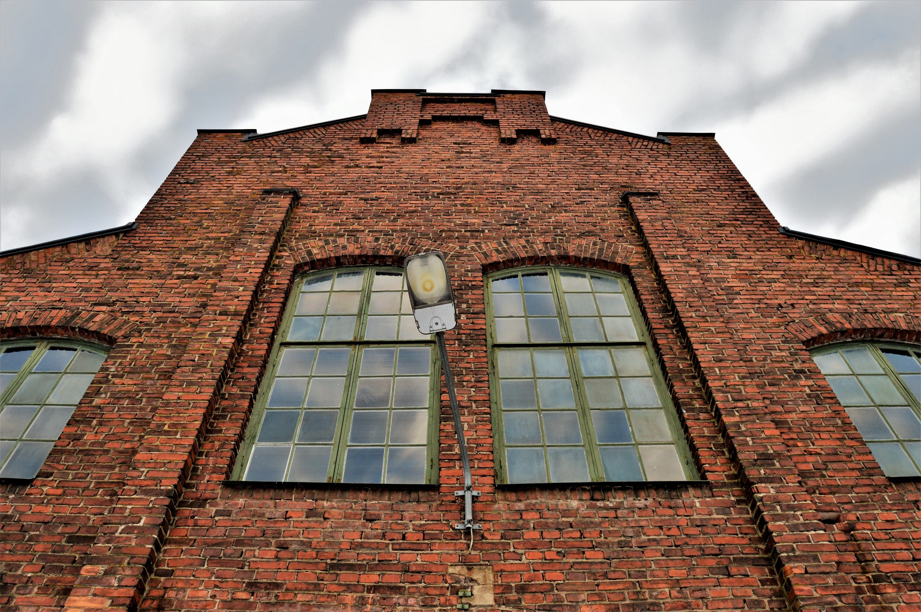 Free stock photo of brick wall, building, cloudy, light