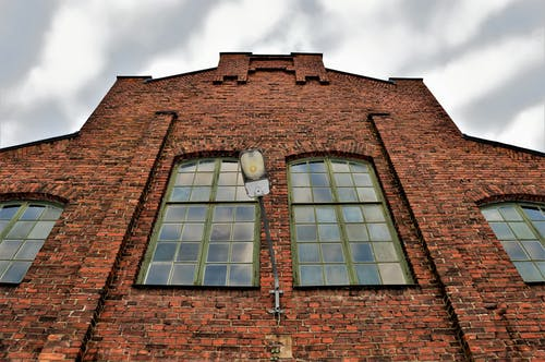 Free stock photo of brick wall, building, cloudy