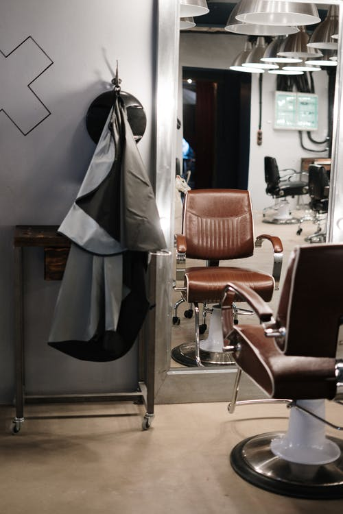 Brown and Black Leather Padded Chair