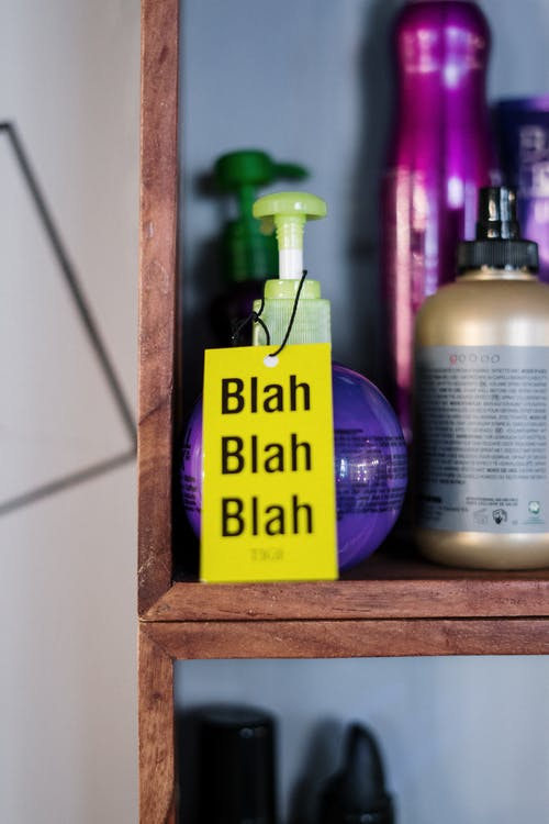 Purple and White Plastic Pump Bottle