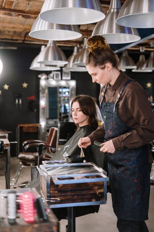 Woman Getting a Hair Treatment
