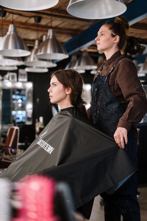 Woman Getting Hair Treatment