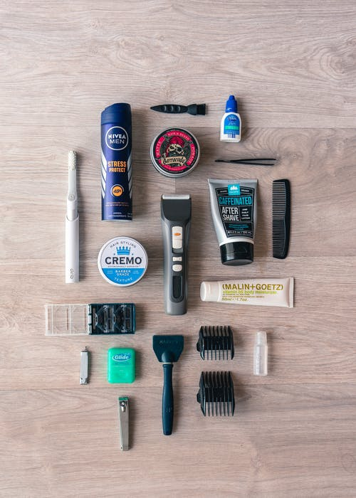 Flat Lay Photography of Grooming Items
