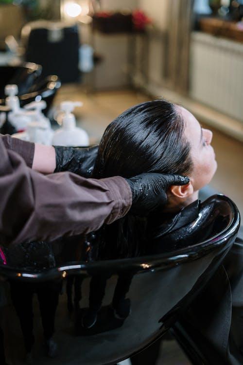 Woman Having Her Hair Rinse