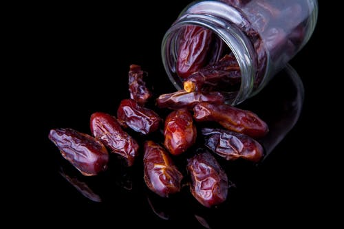 Dates in Clear Glass Jar