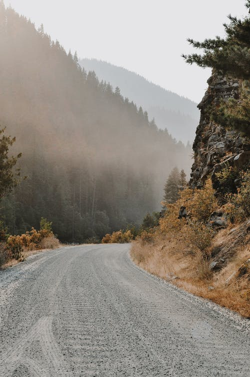 霧の空の道