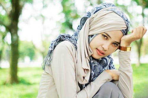 Woman In Brown Hijab