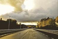 road, nature, sunset