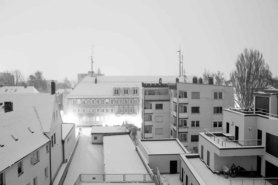 New free stock photo of snow, black-and-white, street