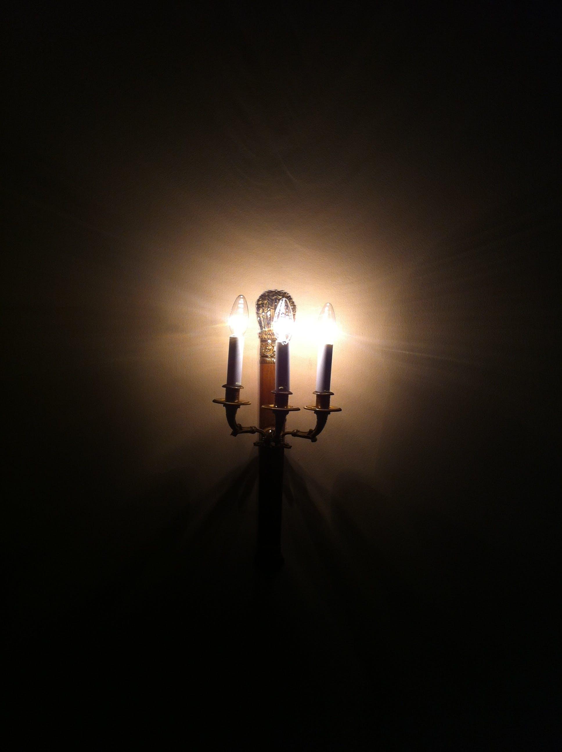 Free stock photo of candlestick, dark, illuminate, lamp
