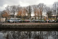 city, cars, water