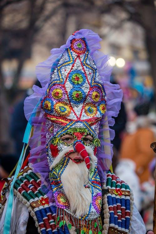 Kostenloses Stock Foto zu ausführen, bulgarien, bunt, bunte und glänzende maske.