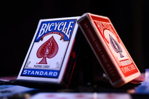 Free stock photo of bicycle, cards, magic