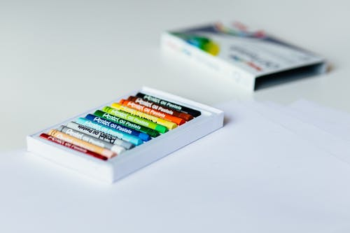 White Crayon Box