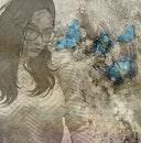 girl, portrait, butterfly