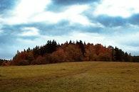 landscape, sky, field