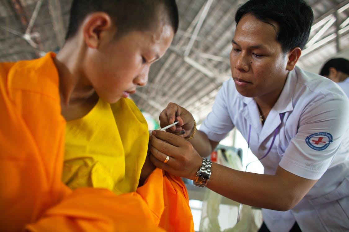 Boy Getting A Vaccine