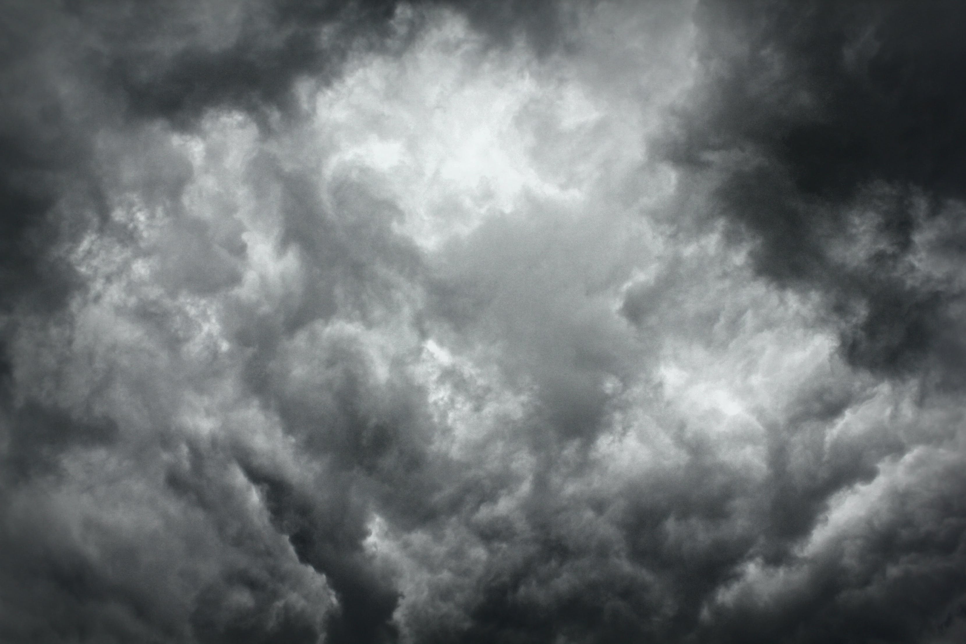 Free stock photo of clouds, dark clouds, foreboding, gray