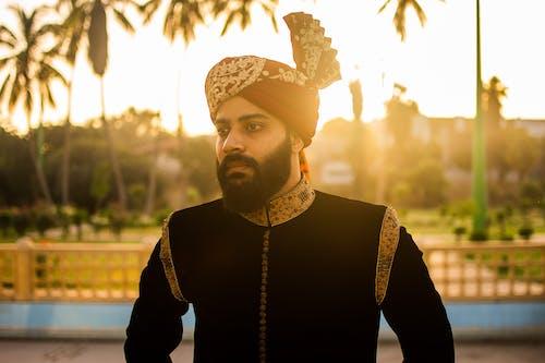 Man Wearing Indian Sherwani Standing