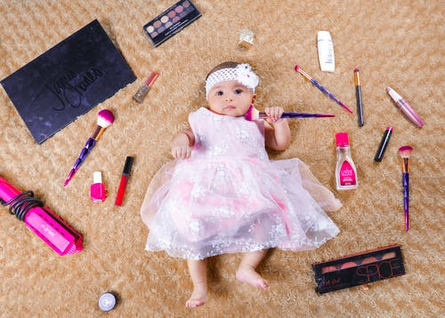 Free stock photo of artistic make up, baby, baby girl
