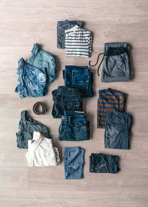 Flat Lay Of Clothes