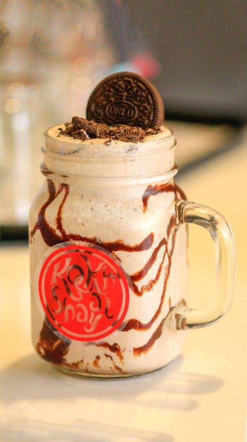 Milkshake In Clear Glass Mug