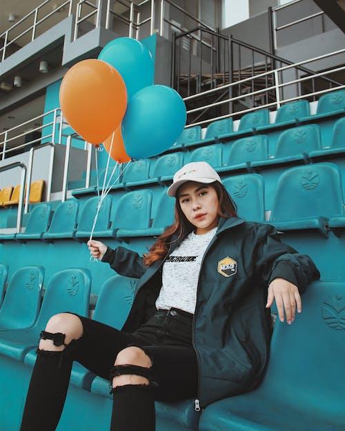 Kostnadsfri bild av ballonger, ha på sig, kvinna