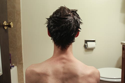 Free stock photo of back, bathroom, brown, hair