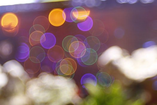 Free stock photo of art, lights, blur, colorful