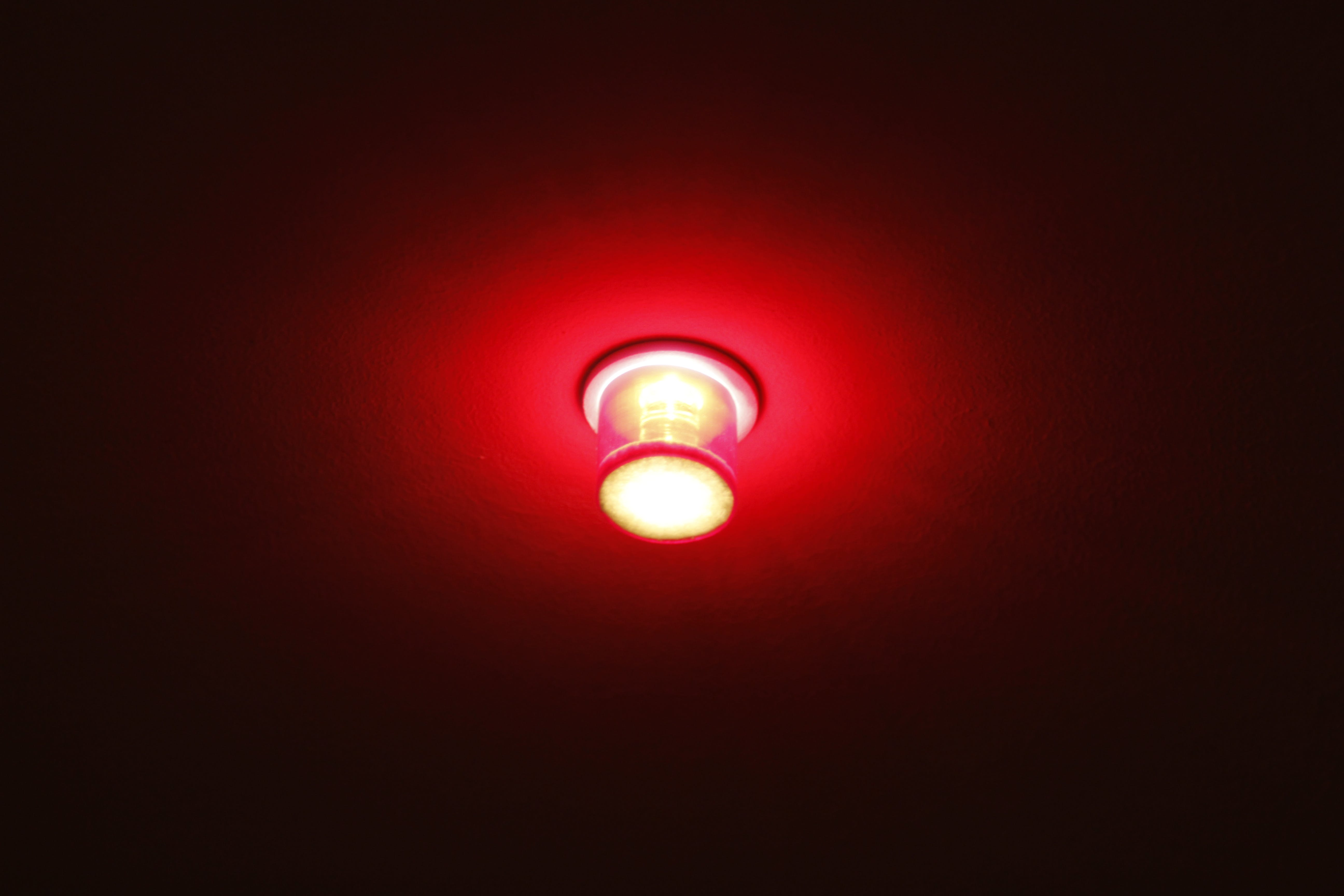 Free stock photo of ceiling lamp, lamp, red light